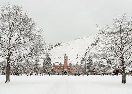 University of Montana Main Hall in Winter