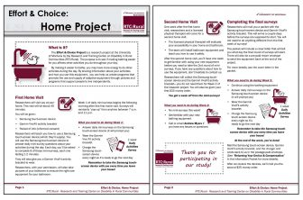 Effort and Choice Home Project screen shot of 2-page document explaining Home Project protocols.
