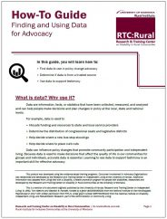 Cover of the Finding and Using Data For Advocacy How-To guide