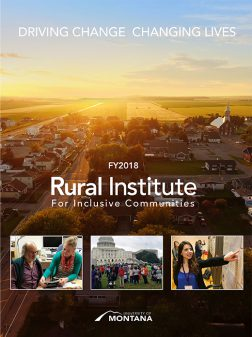 Rural Institute FY2018 Annual Report cover