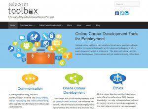 screenshot of Telecom Toolbox home page