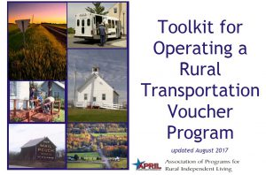 Cover of the Toolkit for operating a rural transportation voucher program