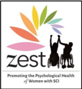 Zest logo: promoting the psychological health of women with SCI