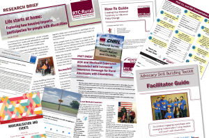 collage of RTC:Rural publications and projects from 2019