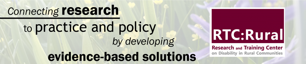 Connecting research to practice and policy by developing evidence-based solutions. RTC:Rural