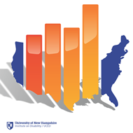 StatsRRTC logo. Image of the US comprised of a bar graph. Text at the bottom says University of New Hampshire