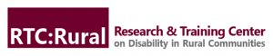 RTC:Rural Research & Training Center on Disability in Rural Communities banner logo